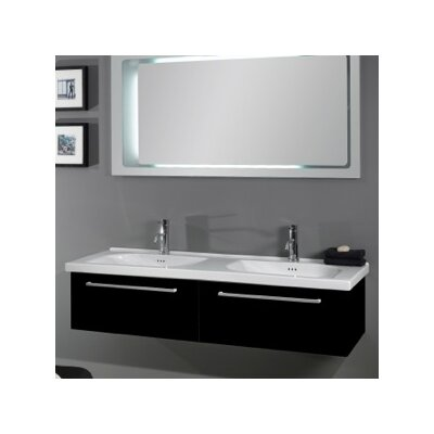 Play Ceramic 57 Wall Mount Bathroom Sink with Overflow