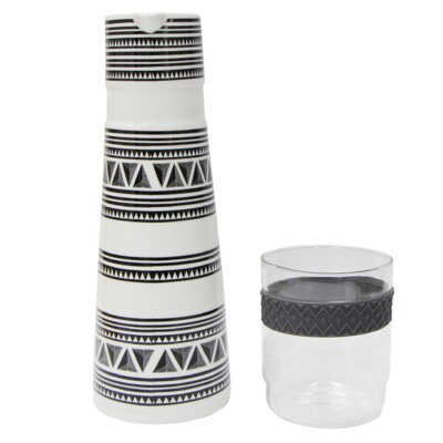 New Bone 3 Cup Water Carafe and Glass Tumbler Set P0112