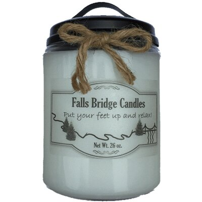 """Christmas Hearth Jar Candle Size: 6.5"""" H x 4"""" W x 4"""" D"""
