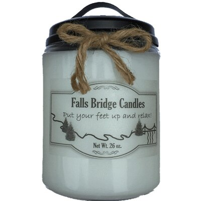 """Christmas Cheer Jar Candle Size: 6.5"""" H x 4"""" W x 4"""" D"""