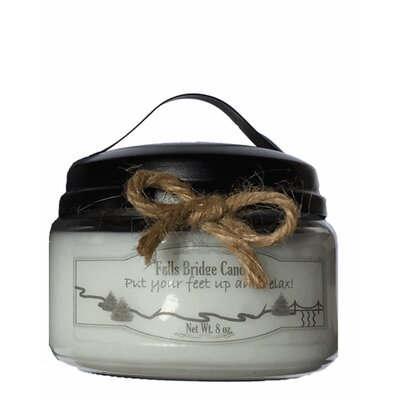 """Christmas Tree Jar Candle Size: 4"""" H x 4"""" W x 4"""" D"""