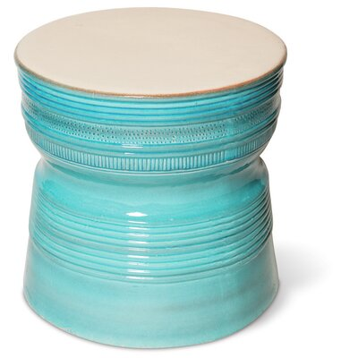 Ancaris Ring Side Table Finish: Creamy White / Turquoise Blue