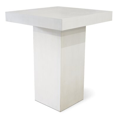 Perpetual Provence Bar Table Finish: Ivory White