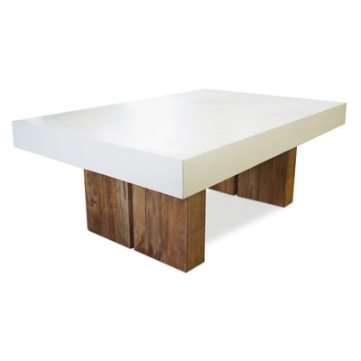 Perpetual Samos Coffee Table Top Finish: Ivory White