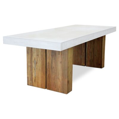 Perpetual Olympus Dining Table Top Finish: Ivory White
