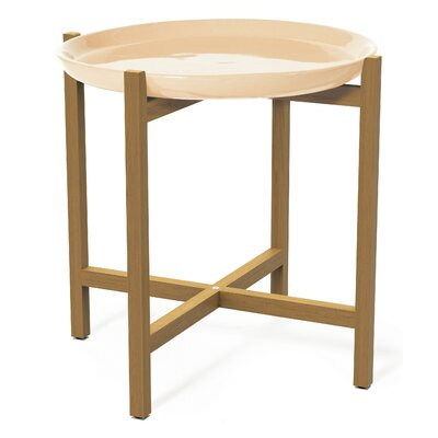 Ibis Side Table Top Finish: Creamy White