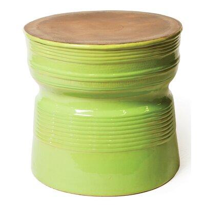 Ancaris Ring Side Table Finish: Metallic / Apple Green