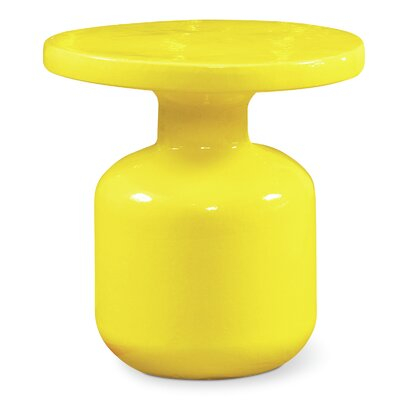 Bottle Side Table Finish: Yellow