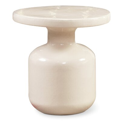Bottle Side Table Finish: Creamy White
