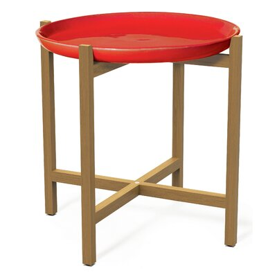 Ibis Side Table Top Finish: Red