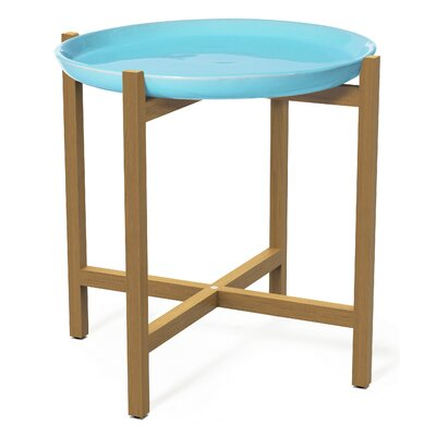 Ibis Side Table Top Finish: Turquoise Blue