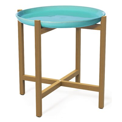 Ibis Side Table Top Finish: Aquamarine