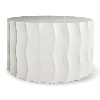 Perpetual Side Table Finish: Ivory White, Table Size: 25 H x 15 W