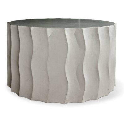 Perpetual Side Table Finish: Slate Gray, Table Size: 15 H x 26 W