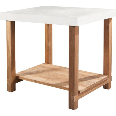 Perpetual Mykonos Gathering Side Table Top Finish: Ivory White