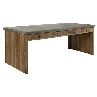 Par Outdoor Dining Table Top Finish: Slate Grey