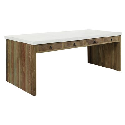 Par Outdoor Dining Table Top Finish: Pearl White