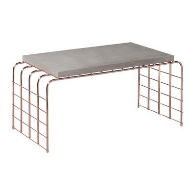 Perpetual Mesh Link Tall Coffee Table Top Finish: Slate Gray