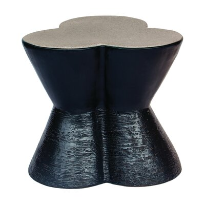 Leaf Clover End Table Top Color: Gloss Charcoal Gray