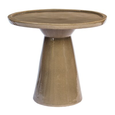 Colombo End Table Color: Gloss Taupe