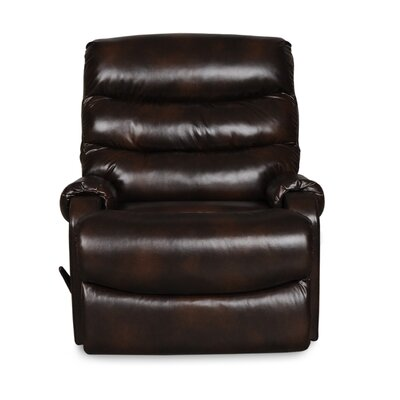 Bailey Swivel Glider Recliner Upholstery: Chocolate