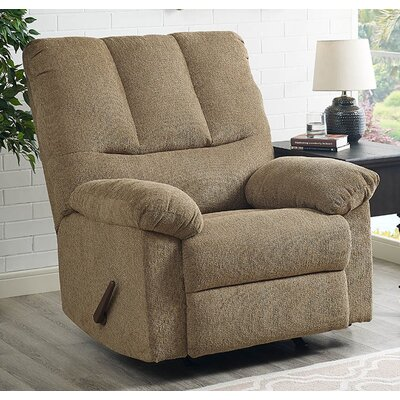 Ethan Manual Recliner With Ottoman Upholstery: Harvest