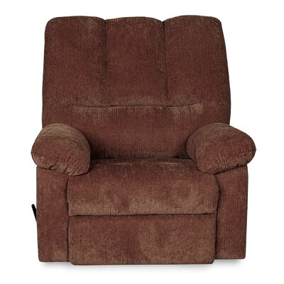 Ethan Manual Recliner with Ottoman Upholstery: Wine