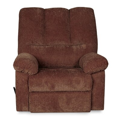 Ethan Manual Swivel Recliner Upholstery: Wine