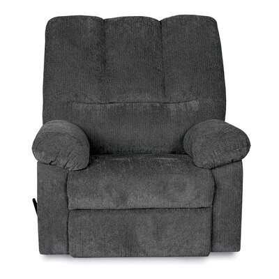 Ethan Manual Swivel Recliner Upholstery: Blue