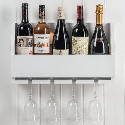 Christopherso 5 Bottle Wall Mounted Wine Rack Color: Old White