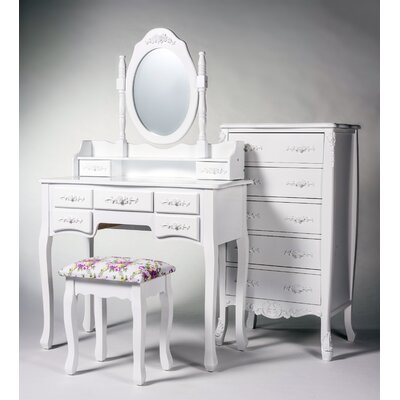 Ponticus 3 Piece Bedroom Set Finish: White