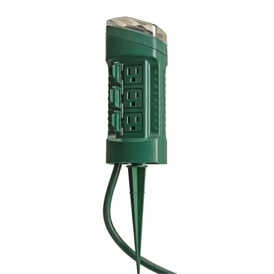 6-Outlet Power Stake Timer