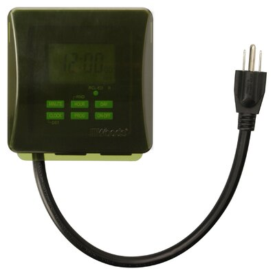7-Day Heavy Duty Digital Outlet Programmable Timer
