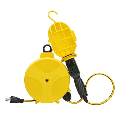 Plastic Cord Reel with Handheld Flood/Security Light