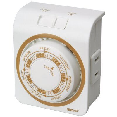 7-Day Mechanical Vacation Outlet Timer