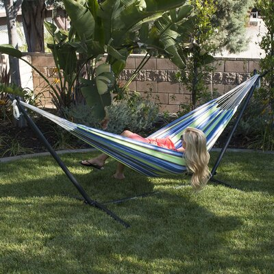 Nina Cotton Hammock with stand Color: Oasis