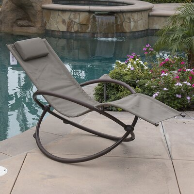 Orbital Chaise Lounge with Cushion Fabric: Brown