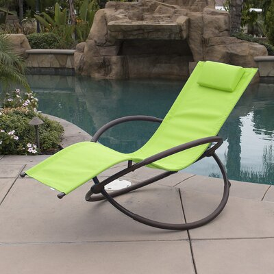 Orbital Chaise Lounge with Cushion Fabric: Green