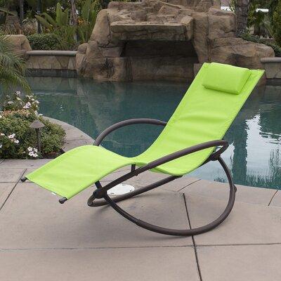 Orbital Chaise Lounge with Cushion Fabric: Green