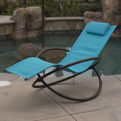 Orbital Chaise Lounge with Cushion Fabric: Ocean Blue