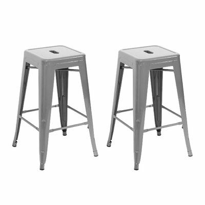 24 Bar Stool Finish: Silver