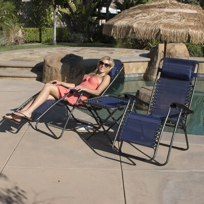 Deluxe 3 piece Recliner Chair Set Fabric: Blue