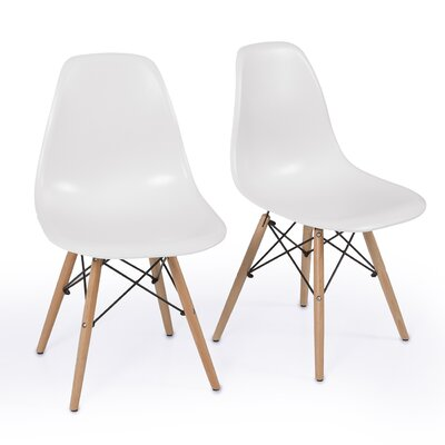 Solid Wood Dining Chair Finish: White