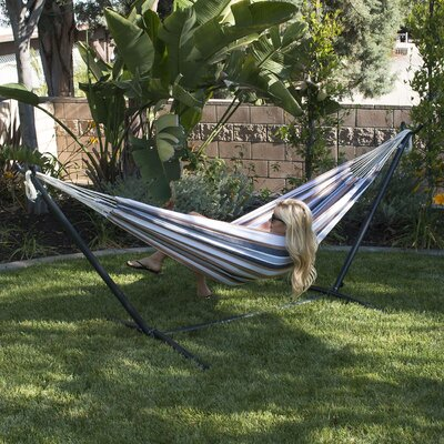 Nina Cotton Hammock with stand Color: Desert Moon