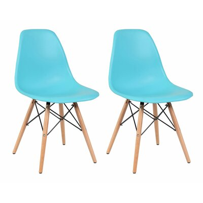Solid Wood Dining Chair Finish: Blue