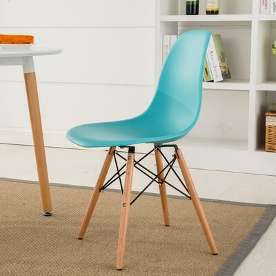 Lillian Solid Wood Dining Chair Finish: Blue