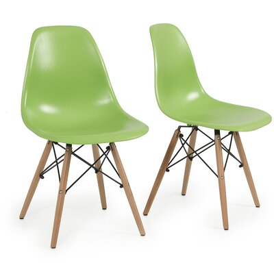 Lillian Solid Wood Dining Chair Finish: Green