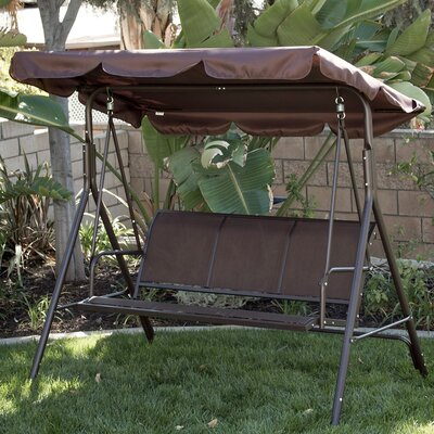 Porch Swing with Stand Cushion Fabric: Dark Brown