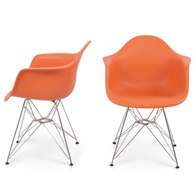 Arm Chair Finish: Orange