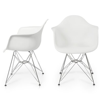 Arm Chair Finish: White